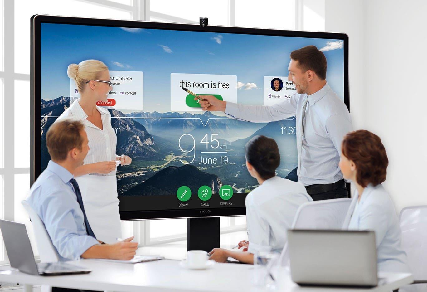 Ecran interactif tactile CTOUCH Leddura 2Meet - Ctouch