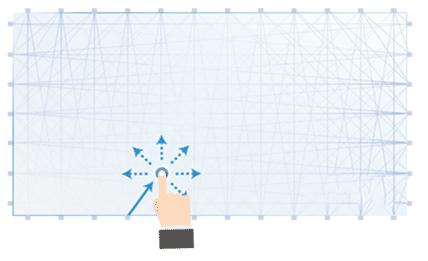 illustration technologie slw sur écran tactile entreprise