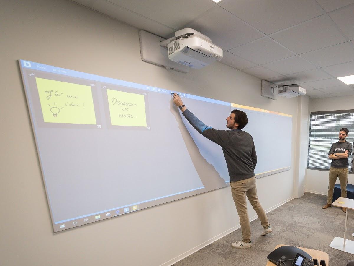 formation sur le mur digital de créativité hoylu chez le groupe avril