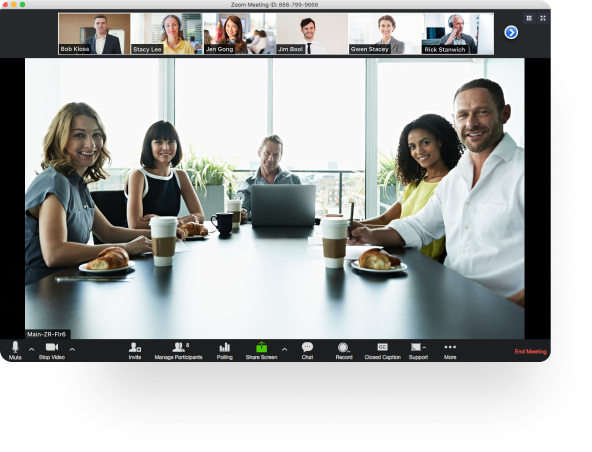 Interface zoom pour vos réunions à distance