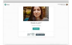 interface google hangouts meet pour visioconférences