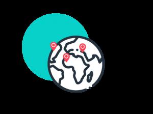 Icone terre - Oblong réunion à distance